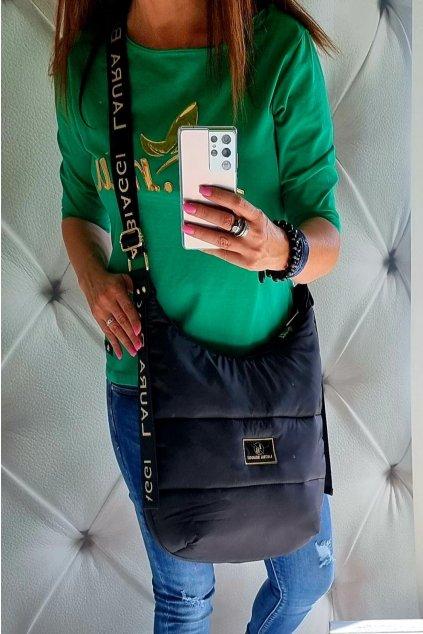 kabelka Laura Biaggi pytel černý značková luxusní trendy kabelka