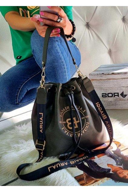 kabelka Laura Biaggi pytel khaki značková luxusní trendy kabelka