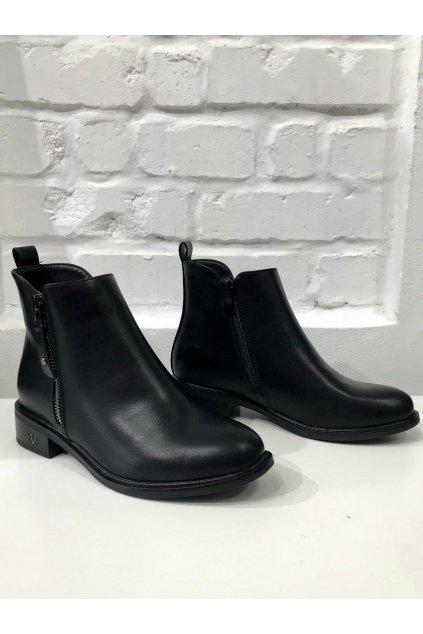 Dámský stylový černé kotníkové boty