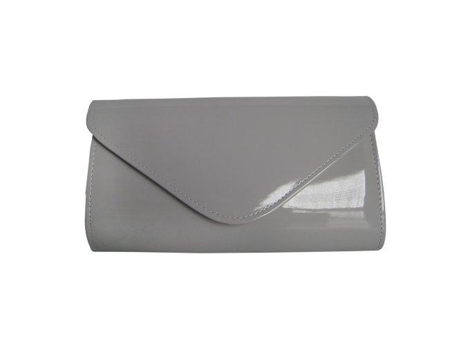 Společenská kabelka tmavě šedá lak