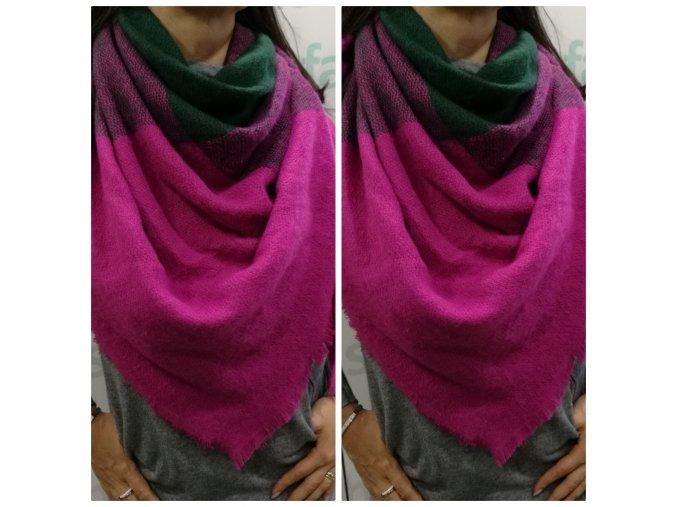 Šátek Mea růžový