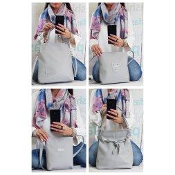 Sladěné sety kabelky a šály v tmavě šedé