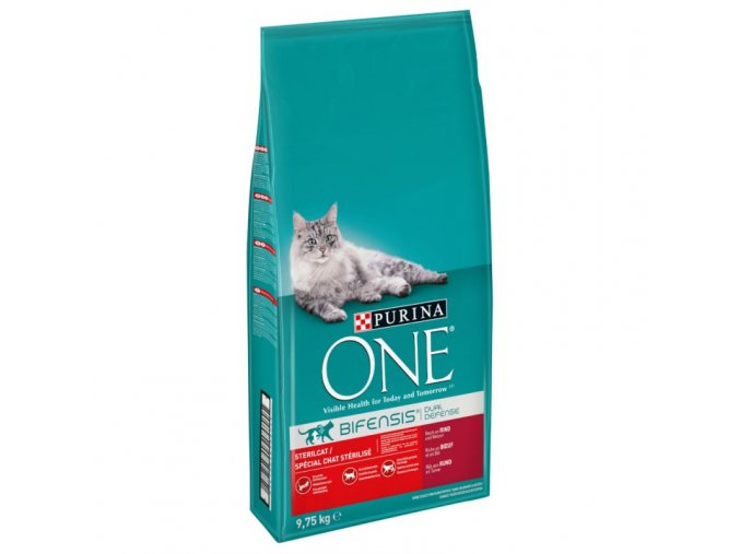 112396 pla purina one sterilised beef weizen 9 75kg 1