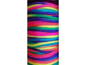 Paracord 4 mm Rainbow Duhový