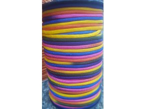 Paracord 4 mm Rainbow Duhový sytý