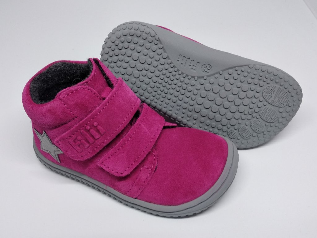 Filii CHAMELEON velours pink velcro M Celoročné topánky