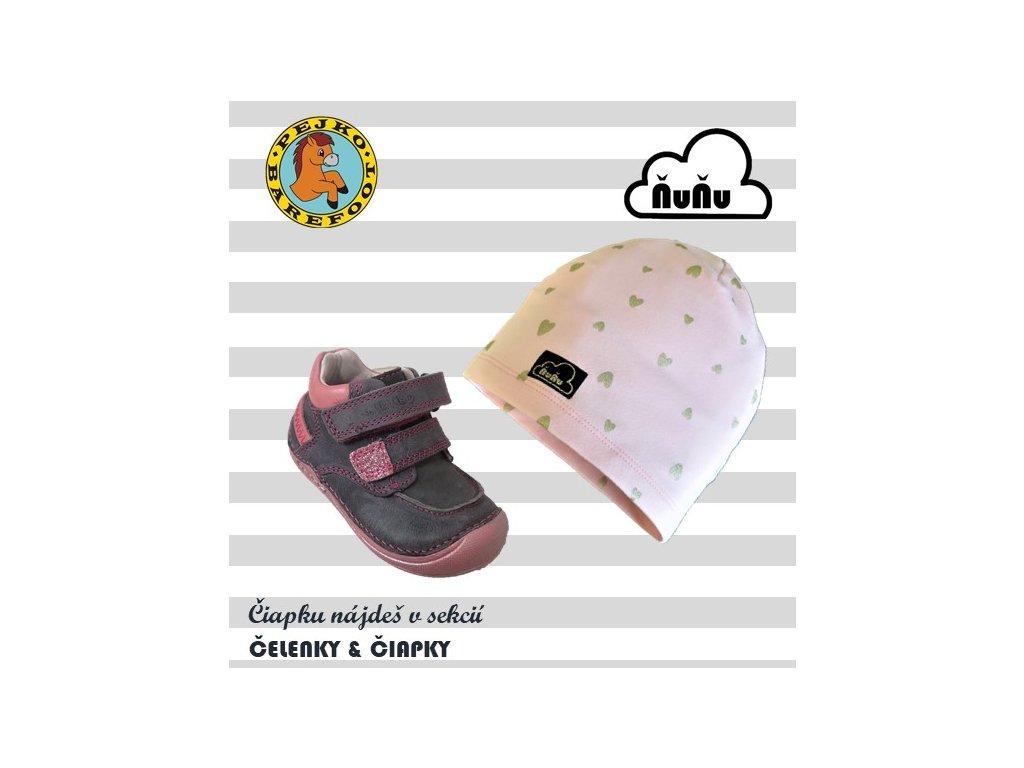 D.D.Step kožené topánky 018-40B Grey /pink