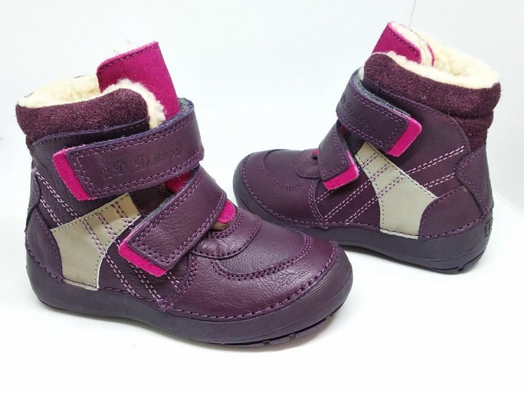 D.D.STEP 023-804C Violet zimné čižmičky