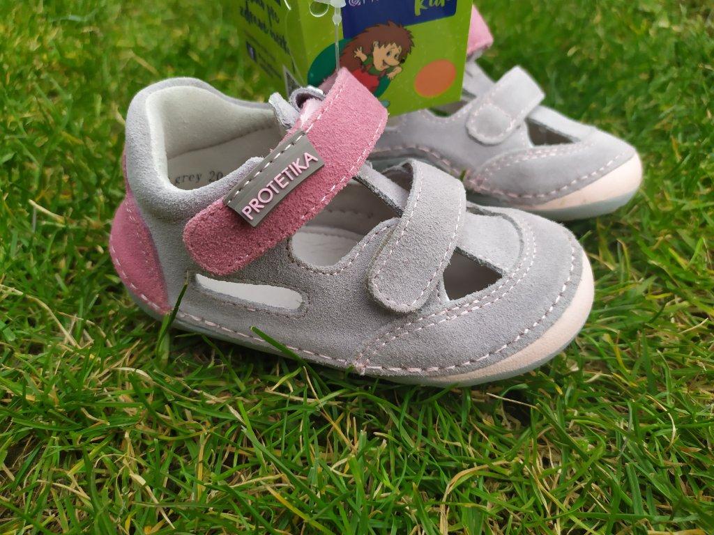 Protetika Barefoot sandále Flip Grey