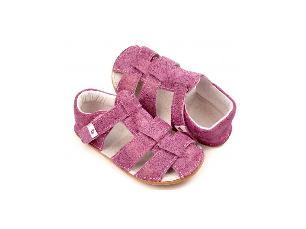 Ef Barefoot sandálky Amarant
