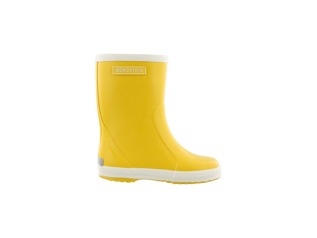 bergstein rainboots natural rubber yellow