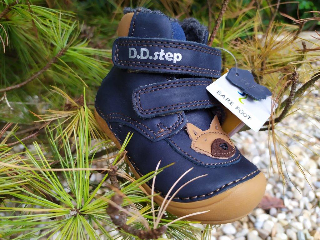 D.D. Step Zimné čižmičky Royal Blue 018-814