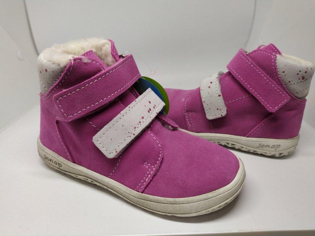 Jonap B4 SV zimné topánky Ružová s puntíkmi