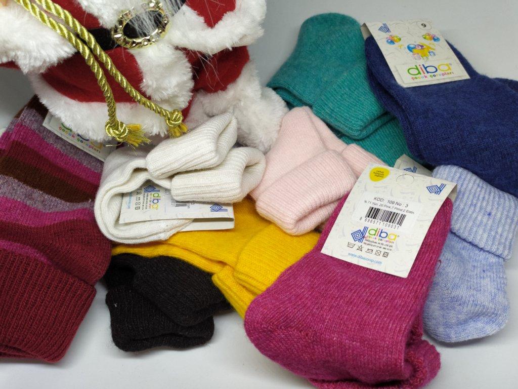 DIBA- Detské vlnené ponožky