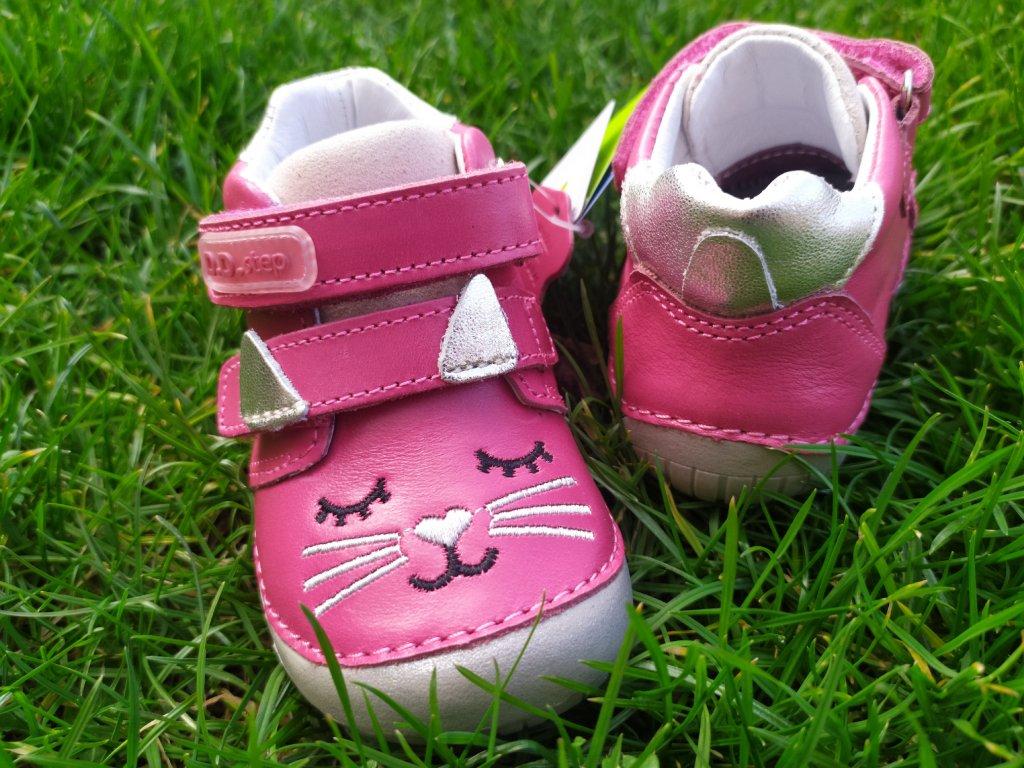 D.D.Step 070 -866A Dark Pink kožené celoročné topánky