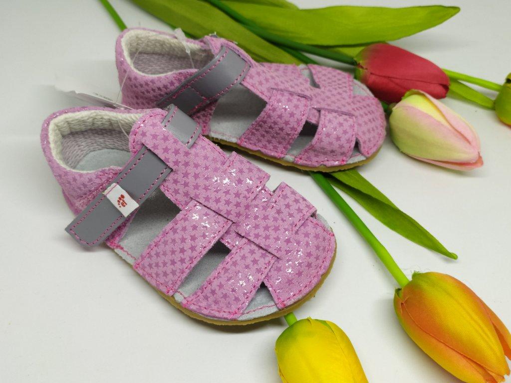 Ef Barefoot sandálky Ružová so šedou