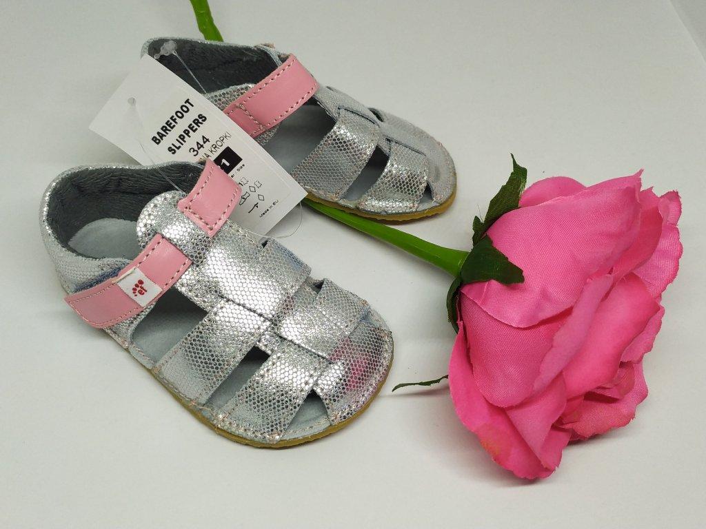Ef Barefoot sandálky Strieborna