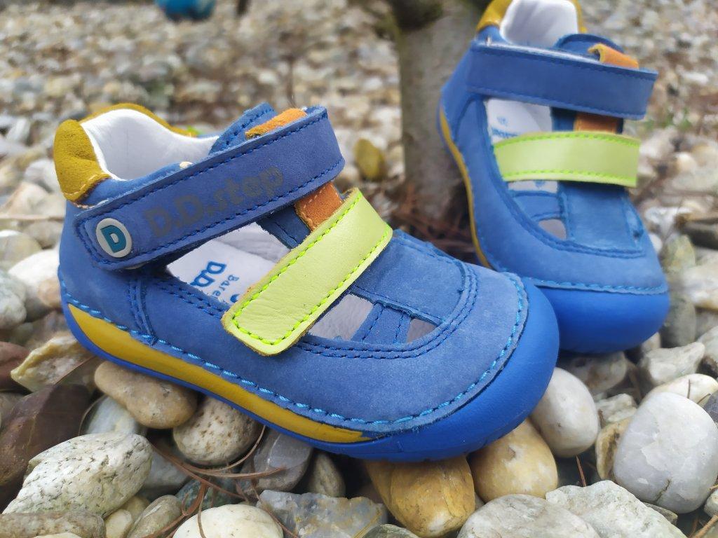 BAREFOOT SANDÁLKY D.D. STEP Bermuda Blue 070-698