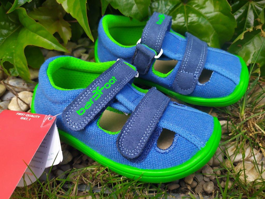3F BAREFOOT Sandále recyklovatelné blue 3BE25/2R