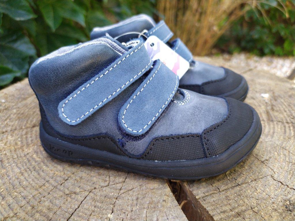 Celoročné kožené topánky  Jonap – Bella Modré – SLIM