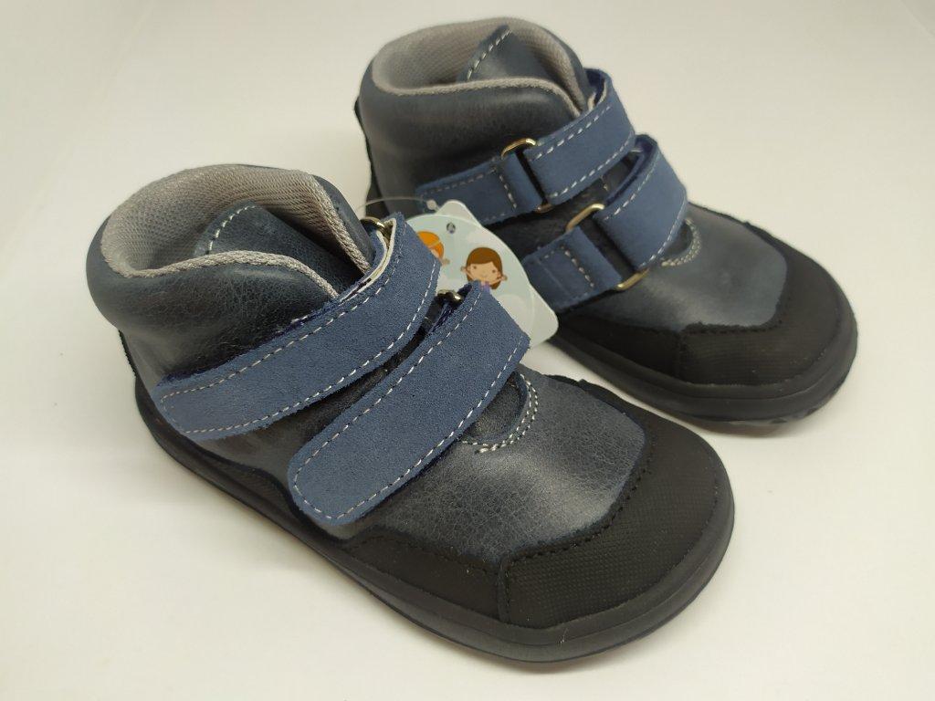 Celoročné kožené topánky Jonap – Bella Modré
