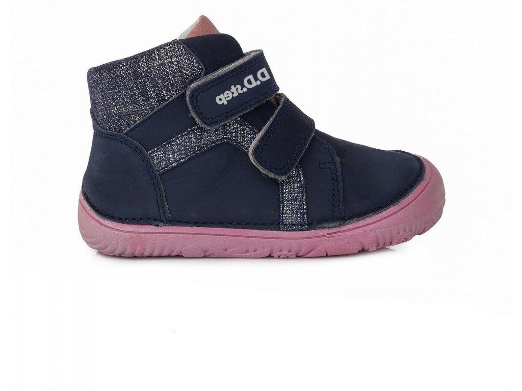 D.D.Step celoročné kožené topánky Royal Blue 073-874