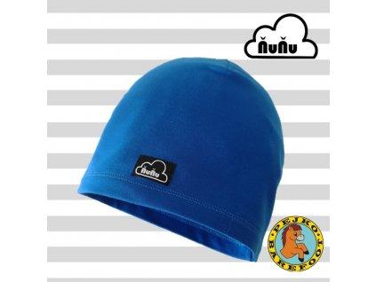 Celoročná čiapka parížská modrá
