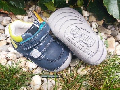 D.D.Step kožené topánky 018-40 Royal Blue