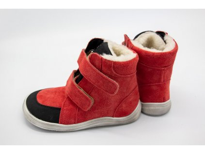 BABY BARE SHOES FEBO WINTER RED VELOUR s okopom Asfaltico