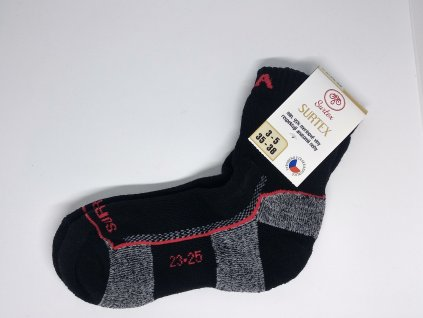 SURTEX ponožky 95% merino, vnútro froté