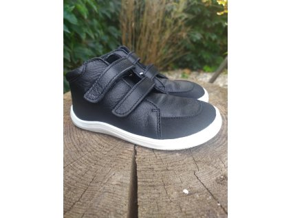 Baby Bare Shoes Febo Fall Black s okopom
