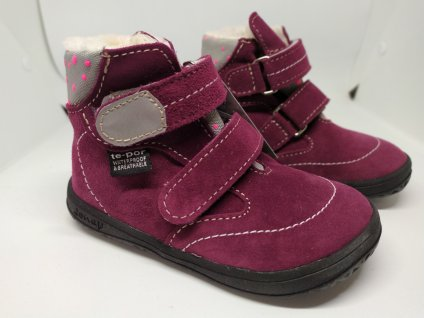 Jonap B5 zimné topánky Vínové/Puntík