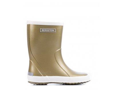 bergstein bergsteinrainbootglam regenlaars goldcolored rainboot 899 front