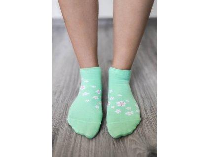 barefoot ponozky kratke ceresnovy kvet 16261 size large v 1
