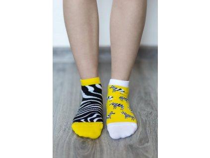 barefoot ponozky kratke zebra 16510 size large v 1