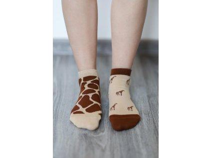 barefoot ponozky kratke zirafa 16558 size large v 1 – kópia