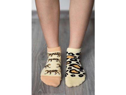 barefoot ponozky kratke leopard 17422 size large v 1