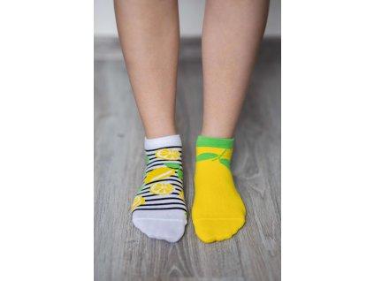 barefoot ponozky kratke citrony 17497 size large v 1