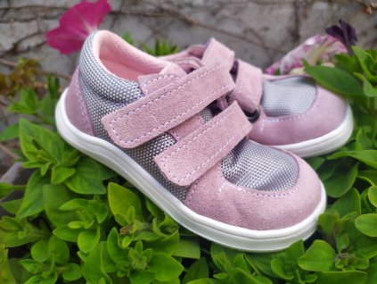 Baby Bare Shoes Febo Sneakers Grey/Pink