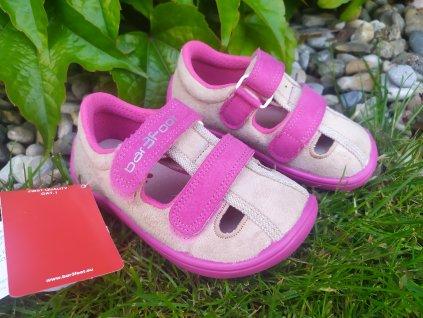 3F BAREFOOT Sandále PINK 3BE25/1
