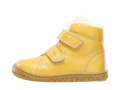 Zimné kožené topánky Lurchi Nik Nappa Giallo