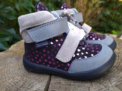 Kožené celoročné topánky s membránou JERRY SRDCE slim