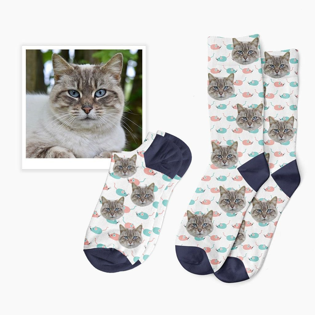 ponožky s fotkou kočky