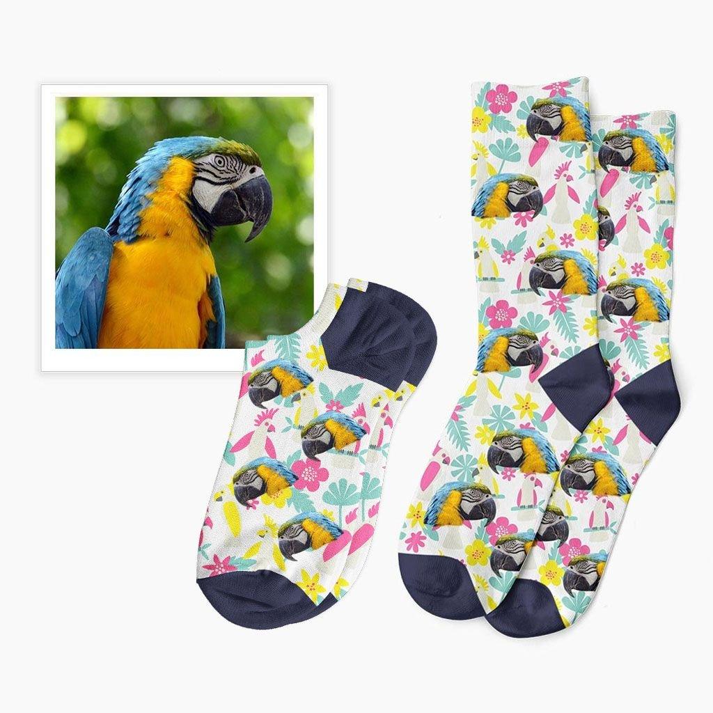 tropické ponožky s vlastní fotkou