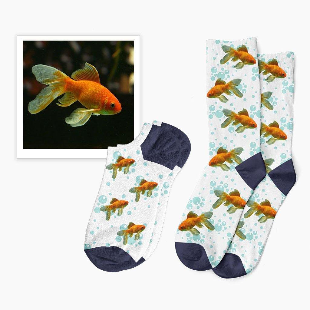 ponožky s potiskem rybičky