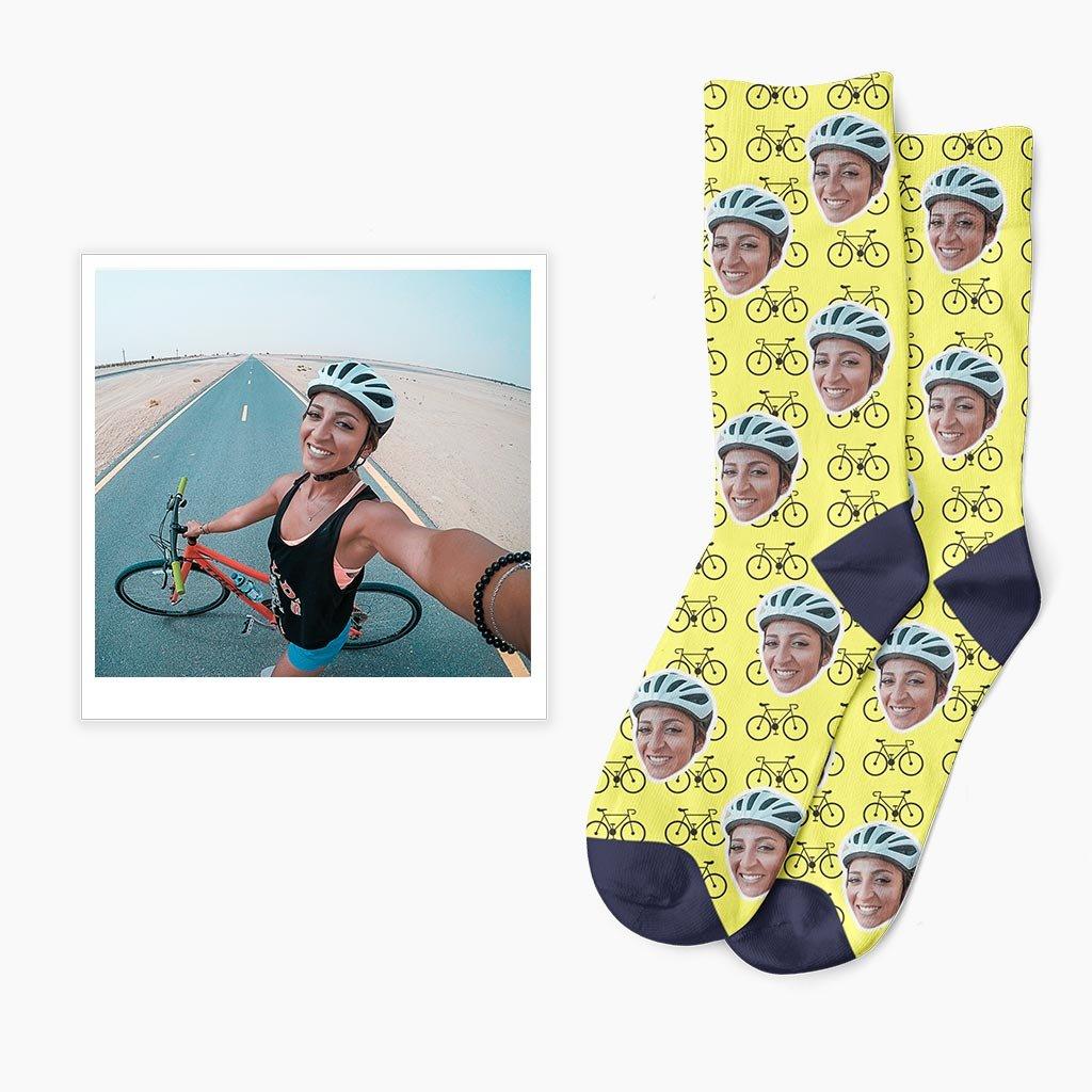 Cyklistické ponožky s vlastní fotkou