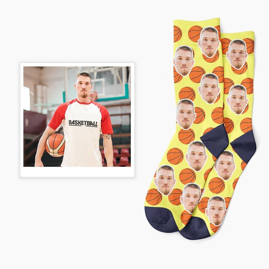 vlastní basketbalové ponožky s vlastní fotkou