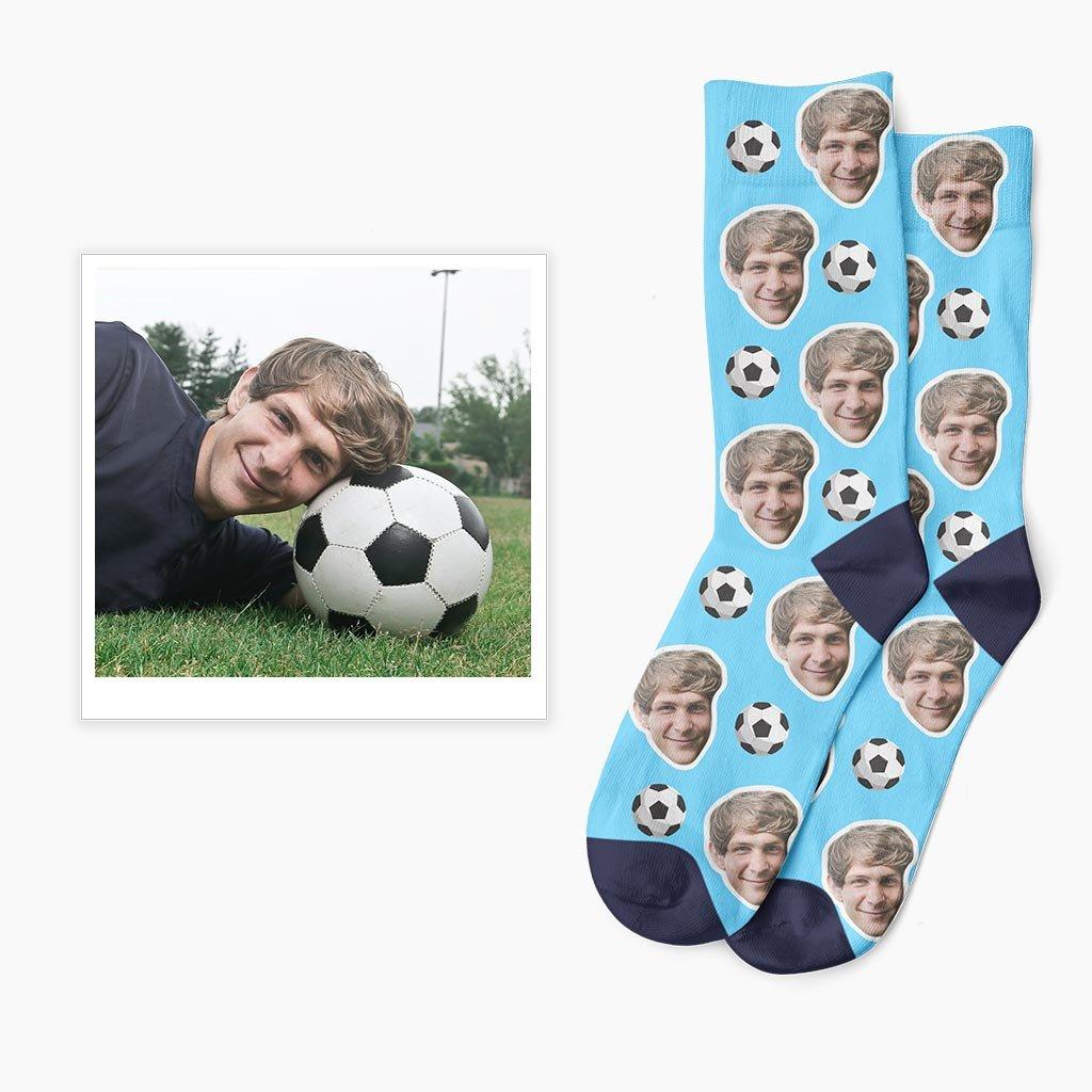 vlastní fotbalové ponožky s vlastní fotkou