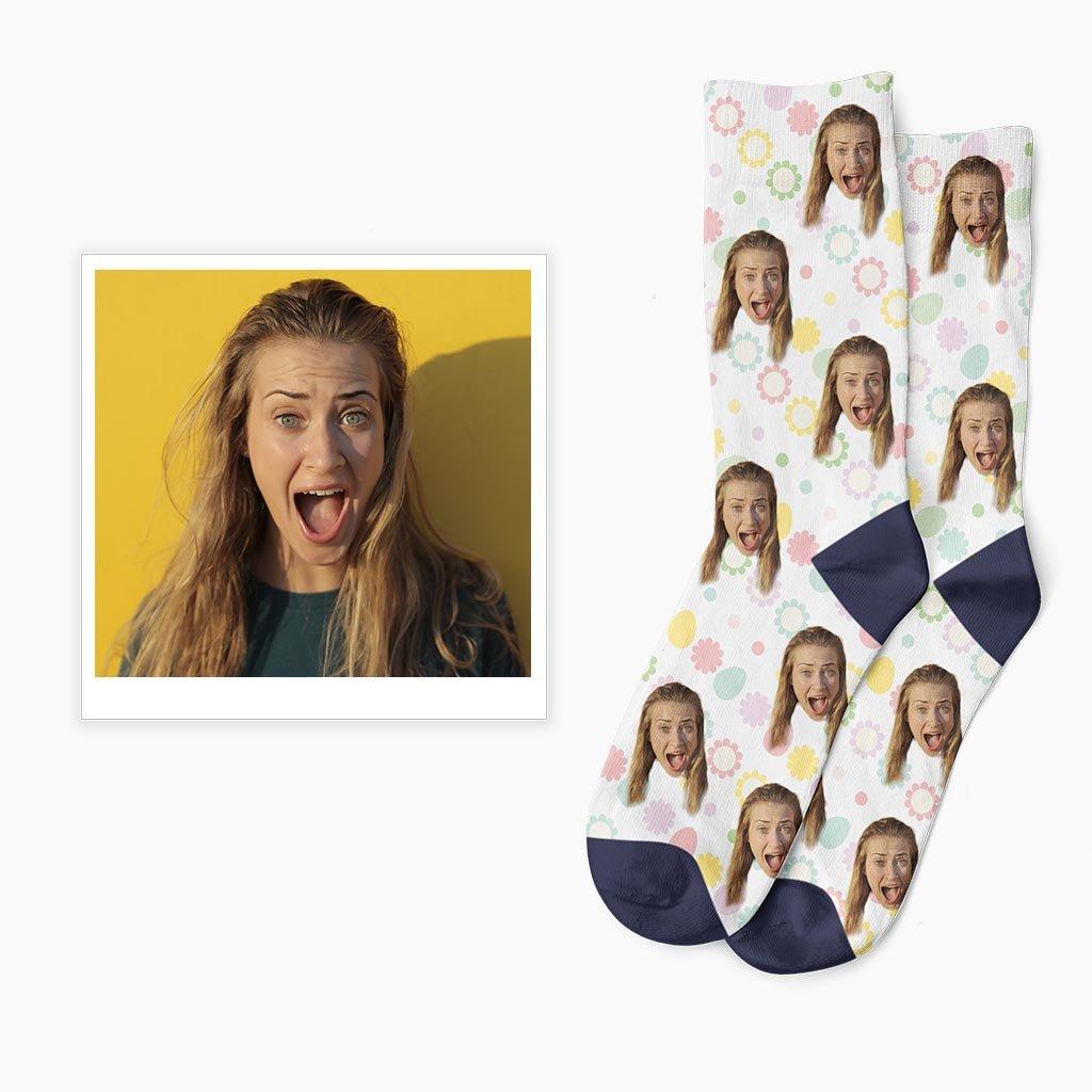 vlastní velikonoční ponožky s vlastní fotkou