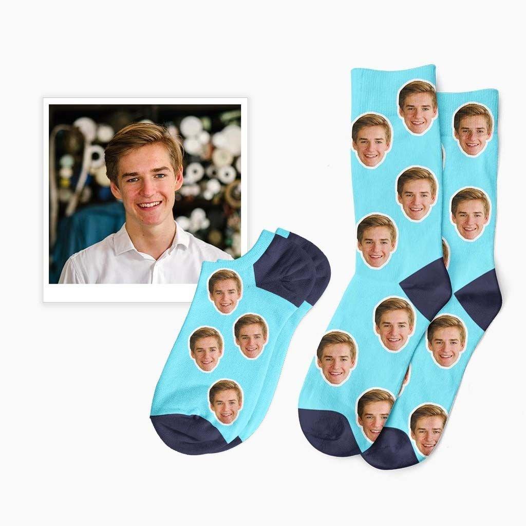 ponožky s fotkou obličeje